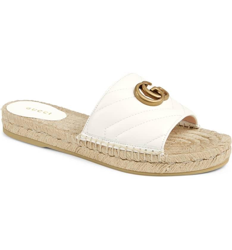07daf97bd4b6 Gucci Pilar Espadrille Slide Sandals