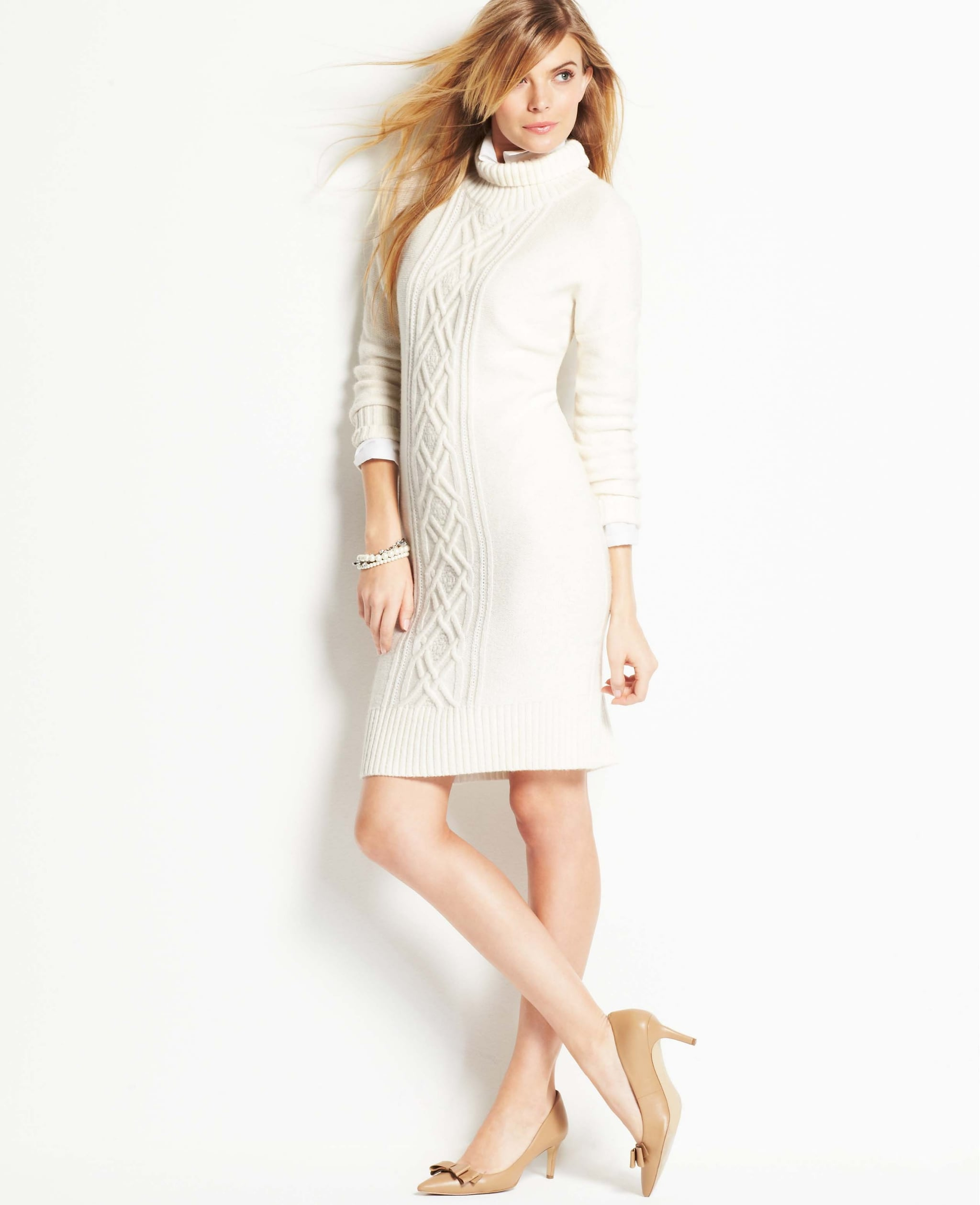 The next step for someone who loves an oversize, chunky sweater? A sweater dress with the same vibe. I'd wear this Ann Taylor style ($129) with over-the-knee boots and likely live in it. — LM
