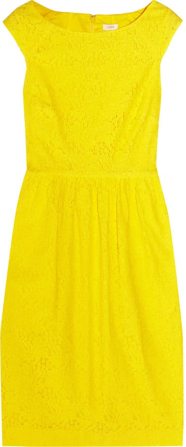 This bright, bold dress has a cotton lining — the breezy fabric is perfect for a hot day. J.Crew Lucille Cotton-Blend Lace Dress ($190)