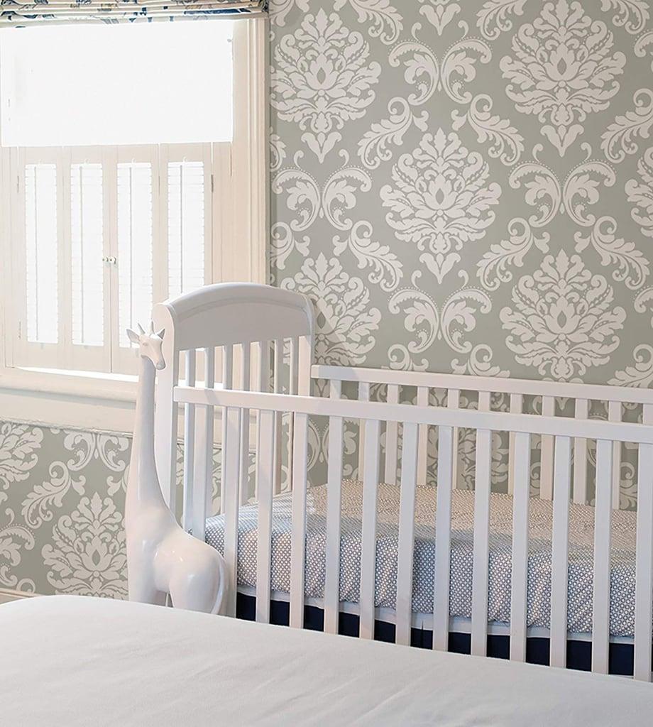 Brewster Home Ariel Grey Wallpaper