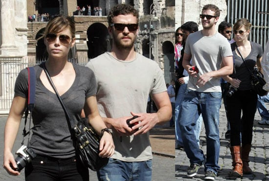 Photos of Jessica Biel and Justin Timberlake in Rome