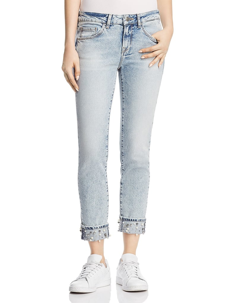 Mavi Ada Cuff Straight Jeans in Reversed Pearl