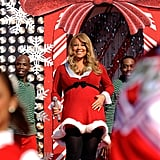 "In 2010, a pregnant Mariah performed ""Oh Santa"" and ""All I Want For Christmas Is You"" at Disney's Magic Kindgom in Florida."