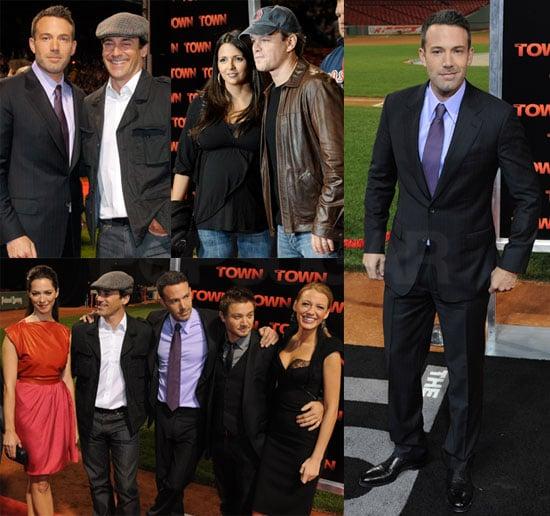 Ben Affleck, Matt Damon, Blake Lively, Jon Hamm at Fenway Park Premiere of The Town in Boston