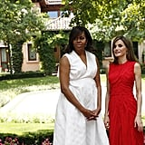 Michelle Obama and Queen Letizia