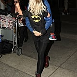 Gwen Stefani had Zuma Rossdale with her as she arrived at LAX.