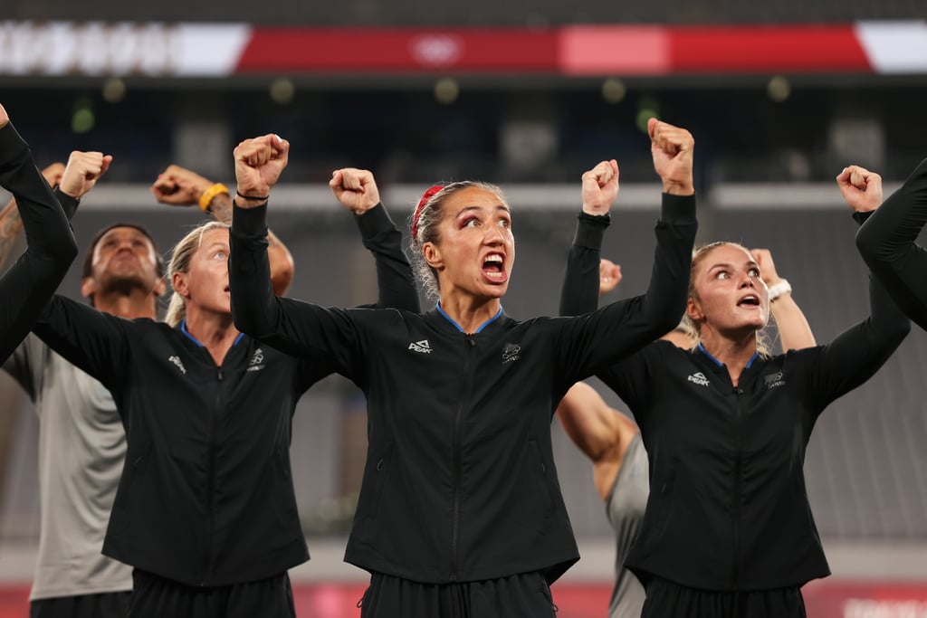 """The New Zealand women's rugby team is leaving the Tokyo Olympics with a gold medal. On July 31, the """"Black Ferns"""" team faced off against France for the sevens final and emerged victorious after a 26-12 win. To celebrate, the group (plus coaches) performed their own version of the traditional Maori haka entitled """"Ko Uhia Mai,"""" or """"Let It Be Known.""""  The Black Ferns have done the haka at games for years, and this rendition feels especially emotional given the journey it took to win gold. """"It's just pure joy,"""" team captain Sarah Hirini said of their win. """"I just think about everything that we've had to do to get to this moment. I thought about all the people back home who have helped us, also the players who trained hard but missed out on getting here. To win this is pretty crazy and it's something where you look at your teammates and think, 'We finally did it. We've done it for New Zealand.'"""" The """"Ko Uhia Mai"""" was composed for the team by respected Maori rugby leader Te Whetu Tipiwai. According to the All Blacks' YouTube channel, this specific haka """"speaks of wāhine uniting for strength, regardless of where they come from, to overcome the challenges that lay in front of them."""" What an appropriate way for the Black Ferns to close out their Olympics experience. See the team's performance, led by Hirini, in the videos and photos ahead.       Related:                                                                                                           These 5 Duos Are Taking """"Power Couple"""" to New Heights at the Tokyo Olympics"""