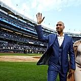 Derek and Hannah Jeter at Yankee Stadium Ceremony