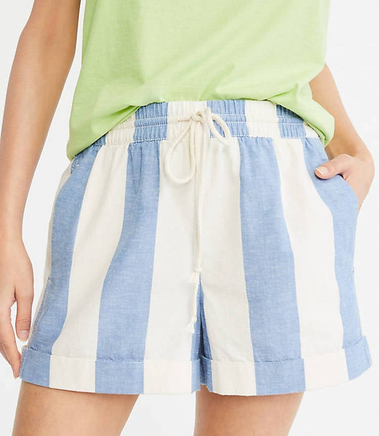 Lou & Grey Cabana Rope-Tie Shorts