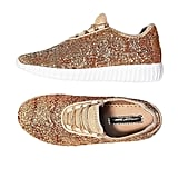 SF Forever Glitter Jogger Sneakers in Rose Gold