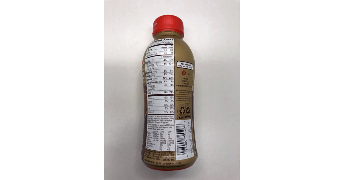 Nutrition Facts For an Entire Bottle of the Twix Chocolate ...