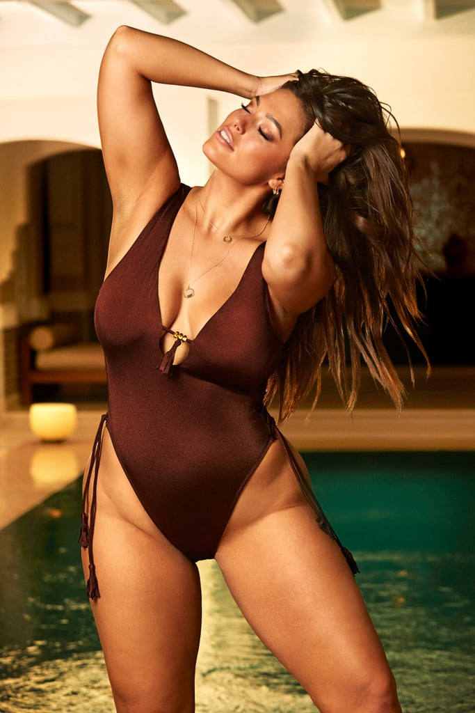 Ashley Graham x Swimsuits For All Tangier Chocolate Swimsuit