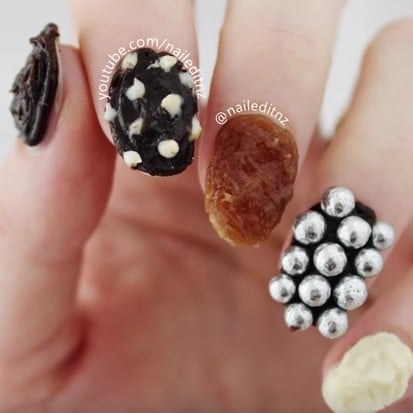 Chocolate Nail Art Video