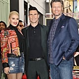 Gwen Stefani and Blake Shelton Share Loving Glances at Adam Levine's Hollywood Walk of Fame