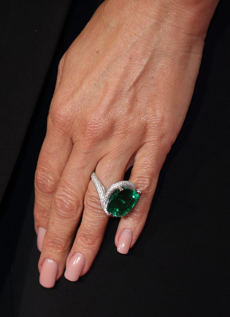 It was most recently spotted on her finger when she attended the annual Elton John AIDS Foundation Ball in June 2018. For the occasion, she paired her ring with a matching necklace.