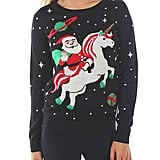 Women's Santa Unicorn Christmas Sweater