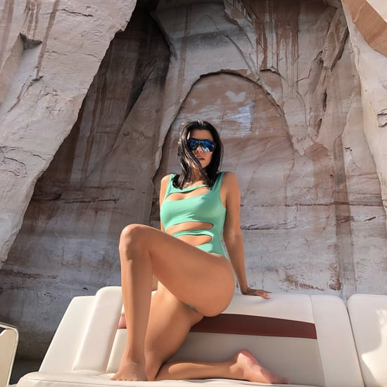 Kourtney Kardashian's Green Cutout Swimsuit May 2018