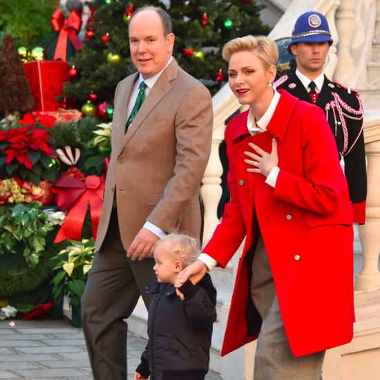 Princess Charlene's Metallic Flats December 2016