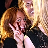Dina Lohan Defends LL While She Parties On