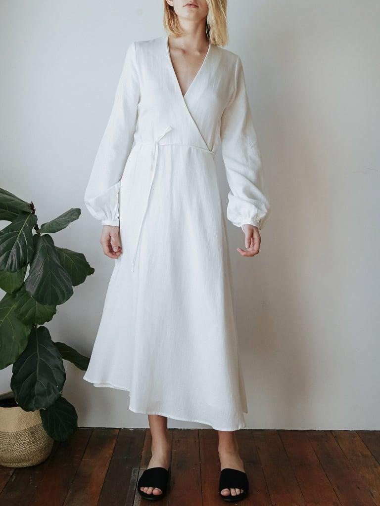 Matin Long Wrap Dress ($420)