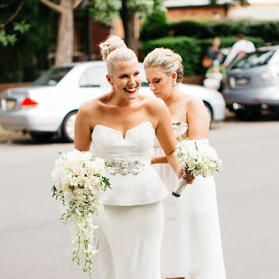 Bride Wearing Rachael Gilbert Wedding Dress