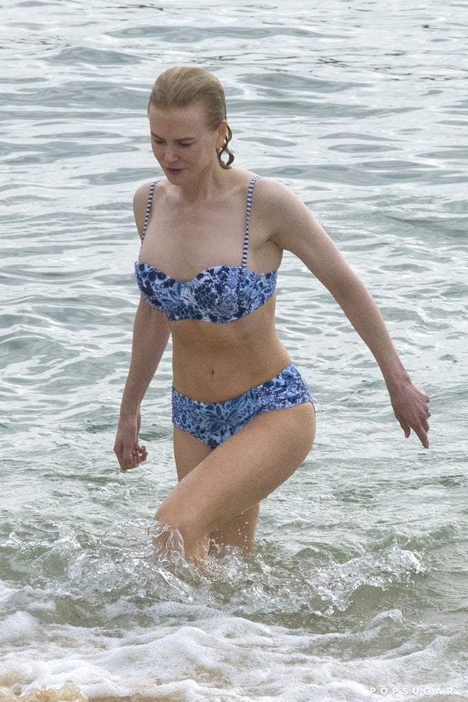 Nicole Kidman showed off her impressive bikini body while taking a dip in the ocean at Balmoral Beach in Sydney last month. The actress looked toned and healthy as she swam in the water with her mom, Janelle, and put her curves on display in a cute printed two-piece. Nicole's visit to her native Australia came just before she hit the red carpet with her adoring husband, Keith Urban, at the ACM Awards in Las Vegas last week. The couple showed their usual sweet PDA at the event, where Keith took the stage to perform with Miranda Lambert. Keep reading to see Nicole's day at the beach, then check out more of the best bikini moments we've seen so far this year.