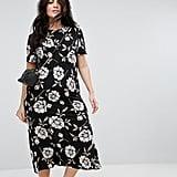 ASOS City Maxi Tea Dress in Large Floral Print