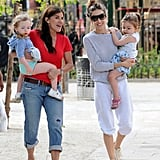 Sarah Jessica Parker spent a day at the park with her daughters in NYC.