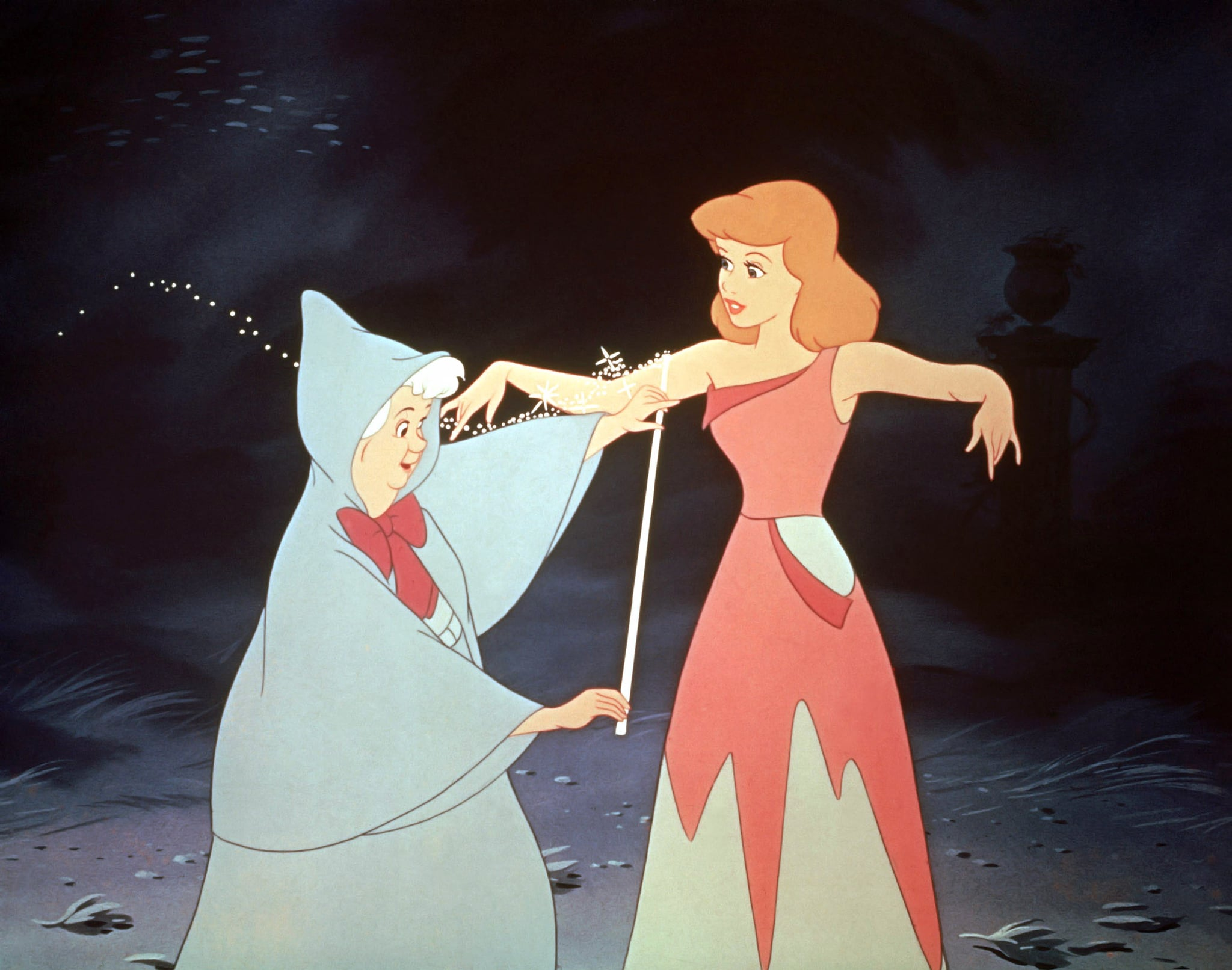 CINDERELLA, Fairy Godmother, Cinderella, 1950, Walt Disney Pictures/courtesy Everett Collection