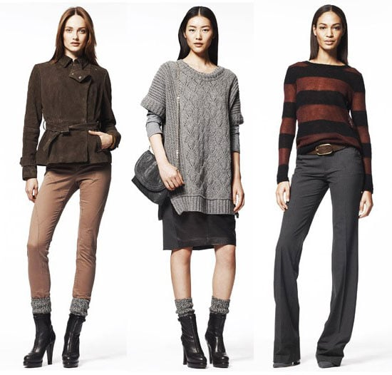 Photos of Gap Fall 2011 Collection, including leather, cropped trousers and on trend knits