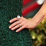 Julianne Moore's swirling Chopard rings fit in just right with her under the sea theme.