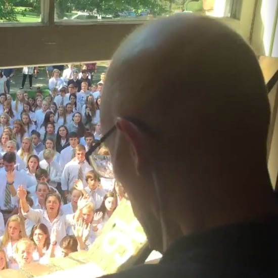 Students Sing to Teacher With Cancer   Video