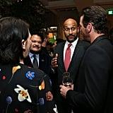 Pictured: Elisa Pugliese, Adrian Martinez, Keegan-Michael Key, and Skeet Ulrich