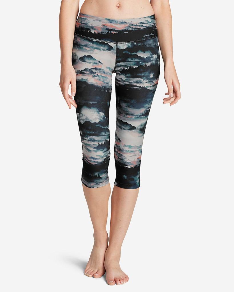 10fe22f8f1087 Eddie Bauer Movement Capri — Sunset Print   Fall Fitness Fashion ...