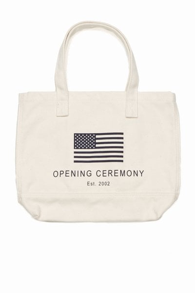 Perhaps a more obvious choice, in terms of patriotic style, but this Opening Ceremony exclusive OC flag mini tote ($60) will last you way after Election Day. It's subtle, functional, and timeless.
