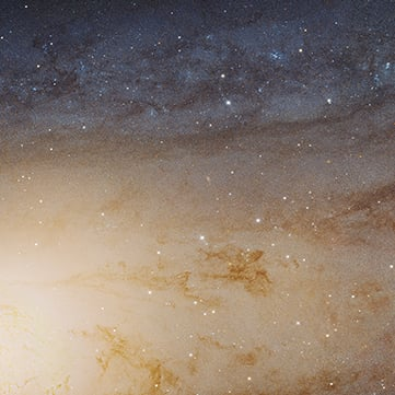 Andromeda Galaxy Photograph by Hubble Space Telescope