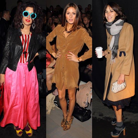 Pictures of Celebrities at London Fashion Week Autumn 2011 Alexa Chung, Olivia Palermo, Bat For Lashes, Sophie Ellis Bextor