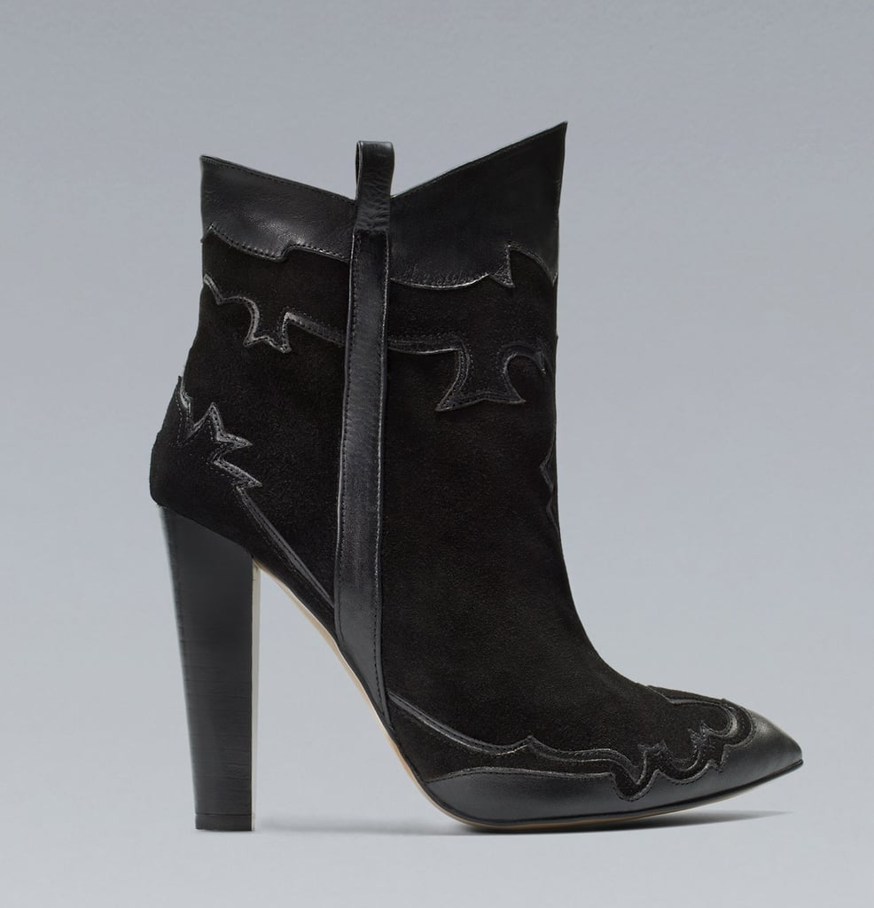 Zara High Heel Cowboy Ankle Boots ($80, originally $129)