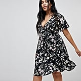 Missguided Plus Floral Midi Dress