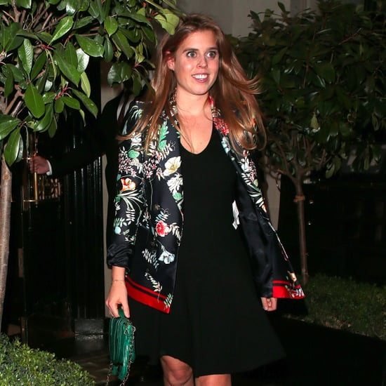 Princess Beatrice Wearing Floral Jacket