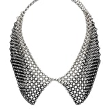 The cheeky collar necklace gets a cool-girl update with mesh-style metal on this Topshop Multi Chain Peter Pan Collar ($30).