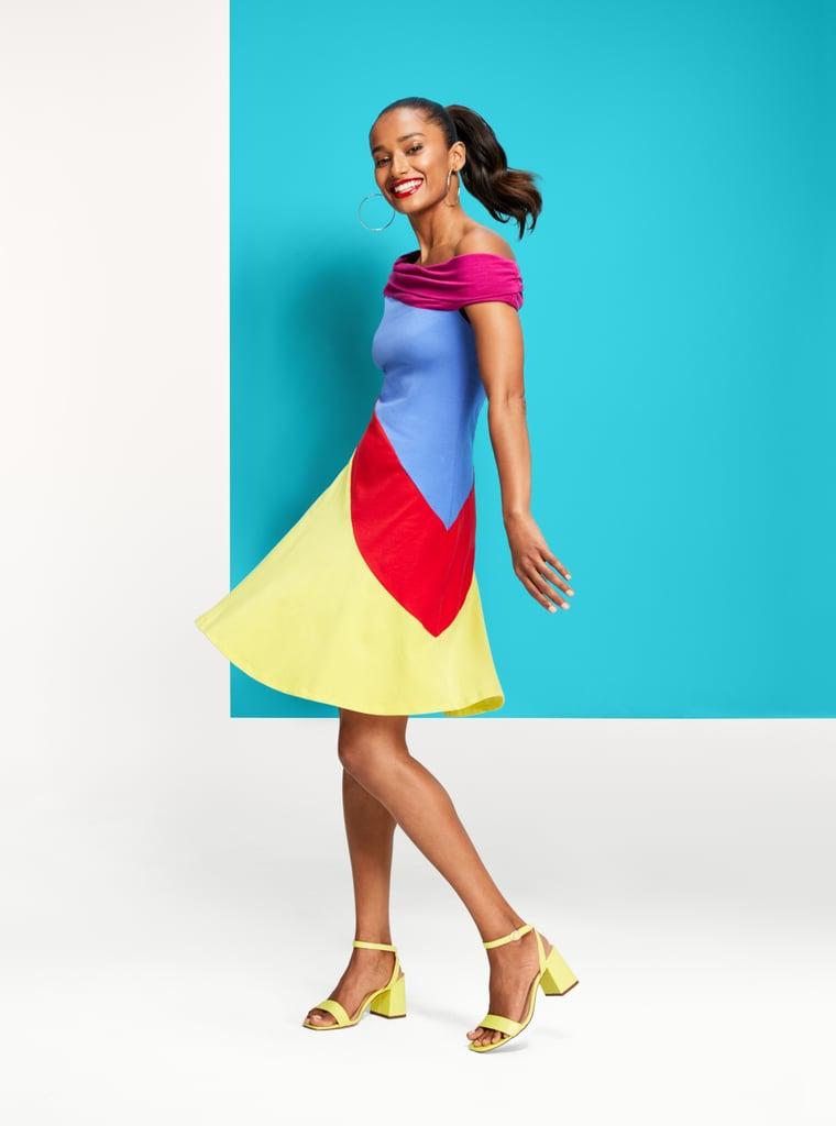 Stephen Burrows for Target Women's Colorblock Off the Shoulder Dress