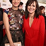 Marion Cotillard and Sally Field posed together on the red carpet.