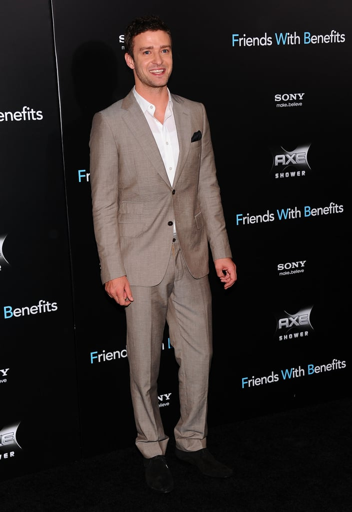Justin Timberlake at the Friends With Benefits premiere in NYC.