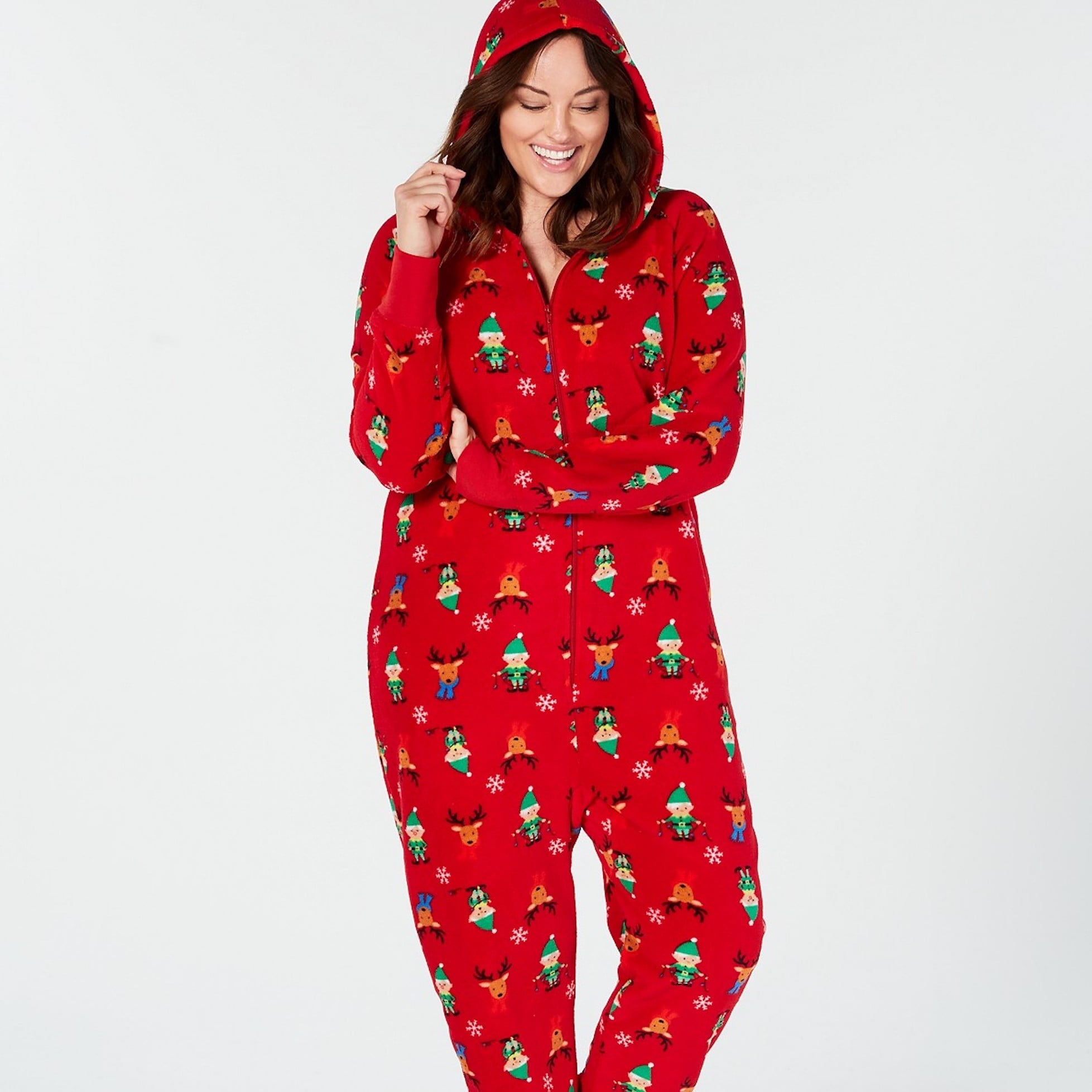 Jammies For Your Families Be Nice I Know Santa Pajama Set  060833ad1