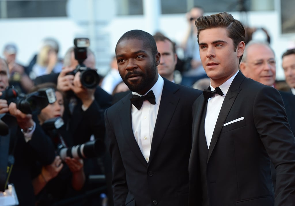 Zac Efron and David Oyelowo posed together for photos at the premiere of The Paperboy in Cannes.