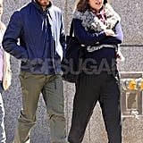 Siblings Maggie Gyllenhaal and Jake Gyllenhaal took a walk around NYC together.