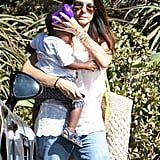 Sandra Bullock with Louis Bullock out and about.