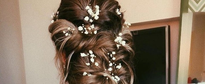 21 Flower-Kissed Bridal Hairstyles That Aren't Crowns