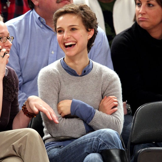 Natalie Portman sat courtside at a New York Knicks game in 2006.